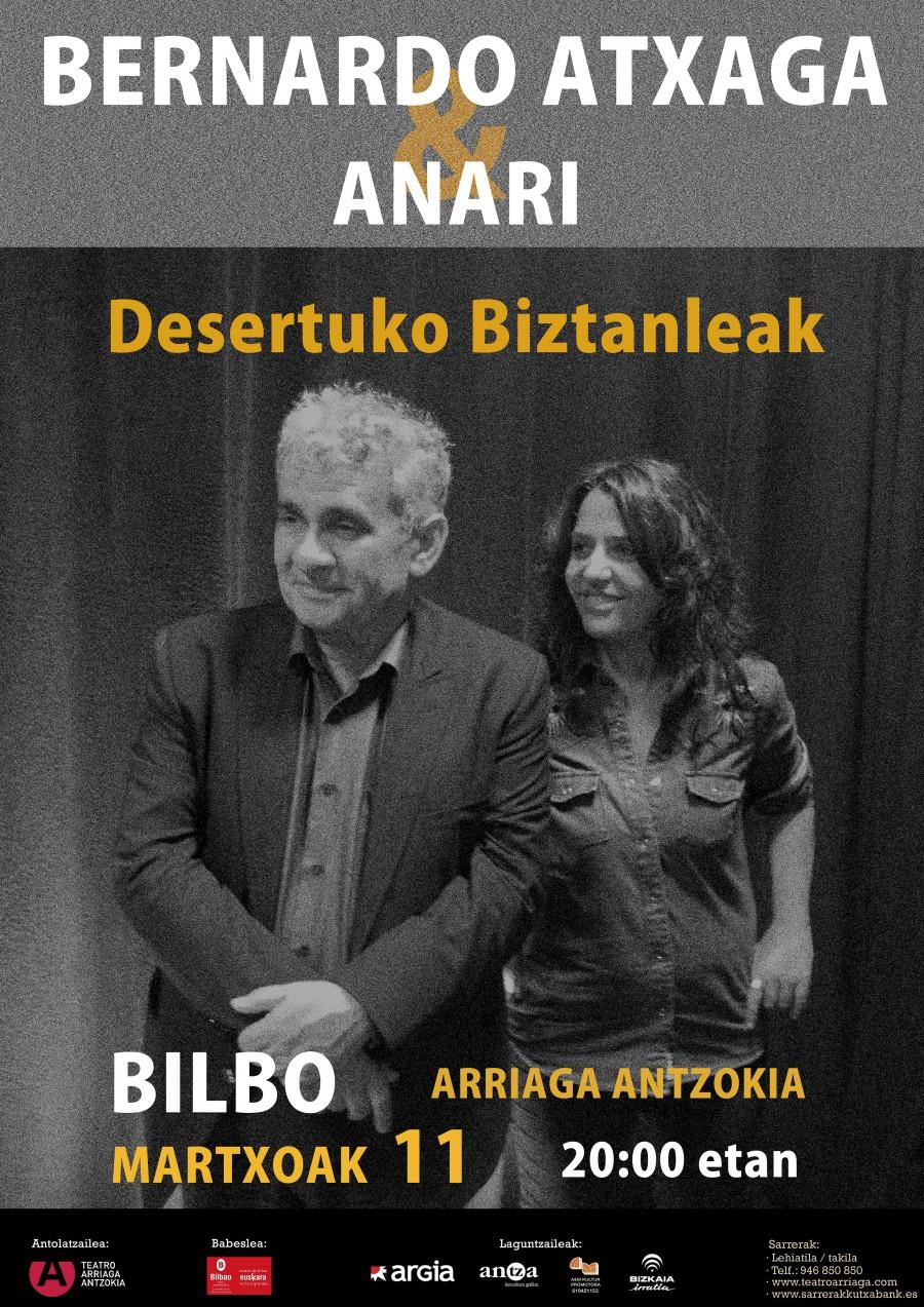 1d5f3ee8ebeea Bernardo Atxaga y Anari  Desertuko biztanleei buruz - Teatro Arriaga